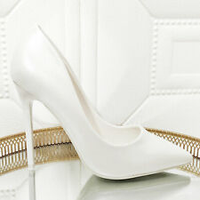 Zapatos de Mujer Novia Blanco Perla Talón Perno Salón Boda Toocool JC3042
