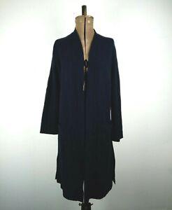 Modern Rarity Blue Coatigan UK XS P to P:52cms L:98cms 50% Wool