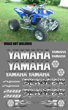 Yamaha BLASTER WHITE/SILVER Airbrush Look ATV Quad Stickers 16pc Decals Graphics