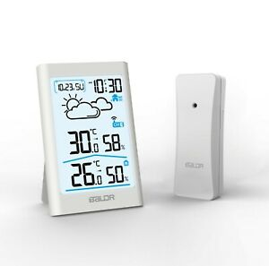 Baldr  LCD Wireless Weather Station Sensor In&Outdoor Home Humidity Alarm CLOCK