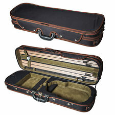 NEW High Quality 4/4 Size Acoustic Violin Fiddle Case Black and Green w/ Strap
