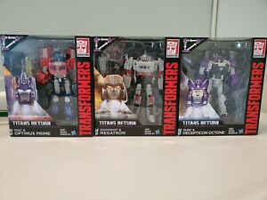 Transformers - Titans Return - Optimus Prime (NIB), Megatron (NIB), & Octone