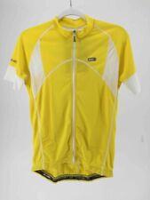 Louis Garneau  Evans Cycling Jersey Yellow Full Zip Short Sleeve SPF 50 S New