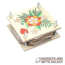 WOODEN FLOWER PRESS 11cm WIDE traditional retro toy gift childs kids adults