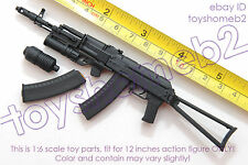 1:6 scale CUSTOM TOY WEAPON AK74 RIFLE only fit for 12 inch action figure