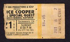 1981 Alice Cooper concert ticket stub Sacramento CA Special Forces Tour