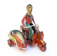 Sidecar Siro Ferrari in latta anni 30/40 very Rare tin toy sidecar made in Italy