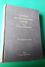 Lehrbuch der anorganischen Chemie 1939 - Riesenfeld Metalle Edelgase Wasser -1