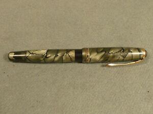 Montblanc 244 EF Kolbenfüller grau marmoriert vintage 585 Goldfeder