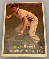 1957 Topps # 12 Dick Groat Baseball Card Pittsburgh Pirates