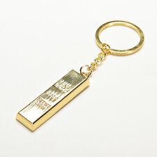Hot Golden Brick Style Gold Bar Shape Key Chain Key Ring Valentine's Gift