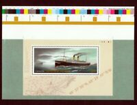 EMPRESS OF IRELAND = Pos. 2 S/S from UNCUT press Sheet SHIP, VESSEL Canada 2014