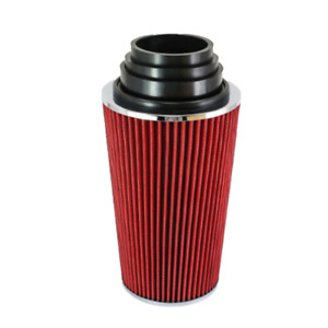 Car High Flow Cone Air Filter Cold Ram Induction Intake Kit Red Aluminum Plastic
