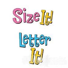 Amazing Designs Letter It ! & Size It Combo