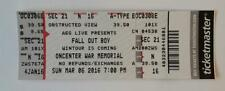 FALL OUT BOY TICKET STUB, 3/6/16 SYRACUSE, WINTOUR TOUR, OFFICIAL, NEVER USED