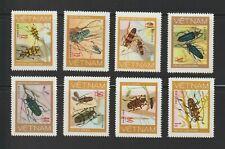1977 North Vietnam Stamps Beetles Sc # 876 -83 MNH