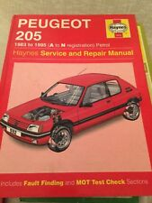 HAYNES MANUAL 0932 PEUGEOT 205 1983 to 1995 , A to N REG  .  FREE UK POSTAGE