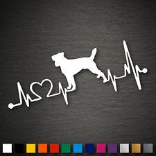 14198 Jack Russel Terrier Herzschlag Aufkleber 177x70mm Hund Sticker Auto Tuning