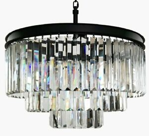 4-Light Luxury Modern Contemporary Crystal Chandelier Ceiling Light Pendant