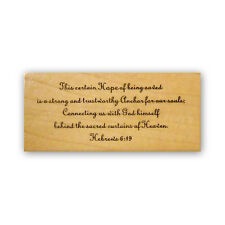 This Certain Hope MTD rubber stamp, Hebrews 6:19 Christian bible verse CMS #3