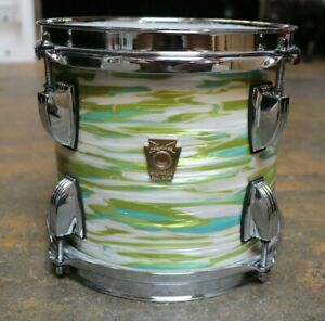Ludwig 7x8 Classic Maple Rack Tom Drum Blue Olive Oyster