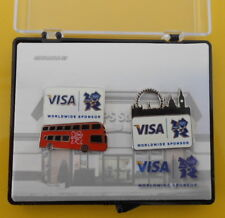 2012 London Olympic Games UPS Store & Visa Set of Commemorative Pins in Case
