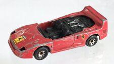 Vintage Matchbox 1988 Red Ferrari F40 Diecast Car 1:59 As Is Damaged No Top