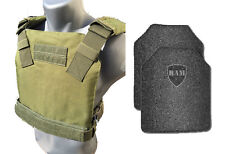 AR500 Body Armor | Bullet Proof Vest | BAM Low Profile | Base Frag Coating -OD