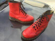 Vintage Dr Martens 1460 red leather boots UK 4 EU 37