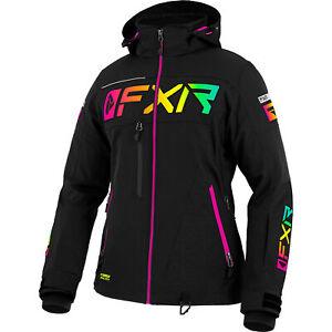 FXR Black/Sherbert Womens Ranger Jacket ACMT HydrX Pro Dry Vent Thermal Dry