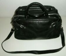 Designed By MADONNA AND H&M / LEATHER BLACK TOTE HAND BAG Hennes & Mauritz