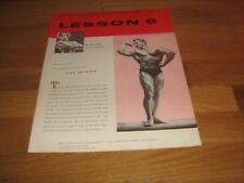 Joe Weider Bodybuilding Lesson #6 Champion Muscle Course Jack Delinger 1957 red