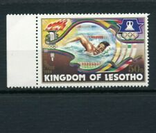 1 Stamps Lot S49 LESOTHO Olympic Games 1984 50s Los Angeles RARE Left Tab MNH VF