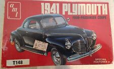 AMT 1941 Plymouth 1/25 Scale New In Box! Car Model Original