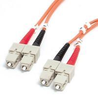 1m  SC-SC 50/125 10Gb Duplex MM Optic Fiber Optics Optical Cable Aqua