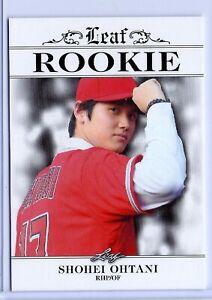 """""""RARE"""" 2018 SHOHEI OHTANI LEAF """"1ST EVER PRINTED"""" ROOKIE CARD #RA-01! MINT!"""