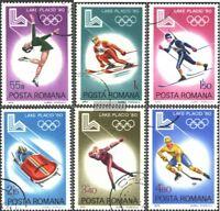 Rumänien 3666-3671 (kompl.Ausg.) gestempelt 1979 Olympische Winterspiele 1980