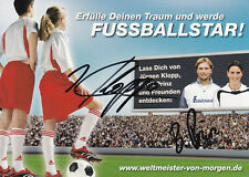 Fussball - Jürgen KLOPP und Birgit PRINZ, Original-Autogramm!