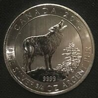 2017 Canada $2 Howling Moon Wolves Wolf Series 3//4oz Silver Bullion Coin 0.75