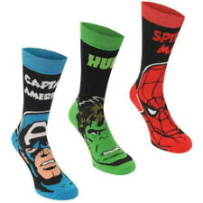 Official Marvel Comics Crew Socks Junior 3 Pack  UK 1-6 EU 32-39 T261-14