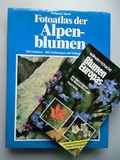 2 Bücher Fotoatlas der Alpenblumen + Blumen Europas