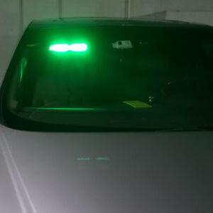Car 16 LED Green Police Strobe Flash Light Dash Emergeny Flashing Lamp Suction