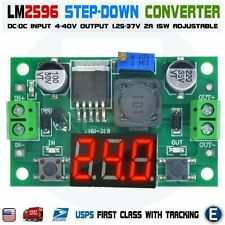 LM2596 Step-Down DC-DC 40V / 2A Voltage Buck Converter Adjustable LED Display US