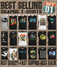 Mens GRAPHIC T-Shirts 80s Retro Music Art Space Cat Novelty Slogan Funny Top Tee