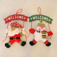 Santa Claus Door Hanging Christmas Tree Home Decor Ornaments Xmas Gift 1Pcs FH