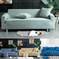 L-Shaped 1-4 Seater Stretch Chair Loveseat Sofa Covers Couch Cover Slipcover New