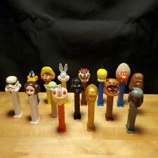 Vintage Pez Dispenser Lot Looney Tunes Star Wars Taz Bugs Daffy Tweety Chewy Yod