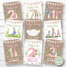 Peter Rabbit Baby Milestone Cards • Baby Shower Gift • New Baby Gift • Keepsakes