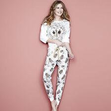 Ladies Avon Leopard or Owl Pyjamas PJ Lounge Set UK Size 8 - 26 new!