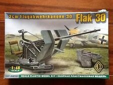 ACE 1/48  WW II GERMAN 2cm. FLAK 30 ANTI AIRCRAFT GUN KIT # 48102 FACTORY SEALED